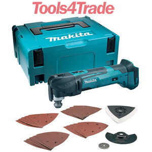 Makita DTM51ZJX7 18V Lithium Multi Tool Keyless Blade Change + 23 Accessory Case