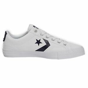 Converse Star Player Ox White Athletic Navy Womens Trainers Unisex New