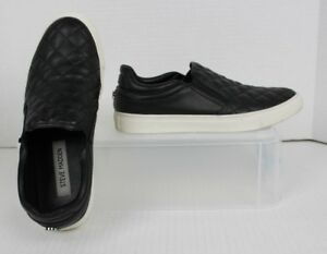 3333ca4dbdb9b Details about STEVE MADDEN Ellen Quilted Sneakers Black Slip On Shoes  Womens Size 7.5 VGUC