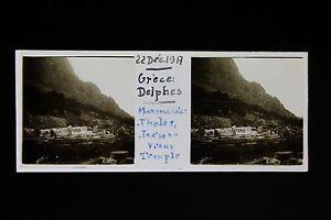 Grecia Delfi Grecia Di WW1 Guerre 1917 Placca Da Lente Stereo