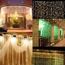 3Mx3M 300 LED Outdoor Christmas New Year String Fairy Wedding Curtain Light 110V