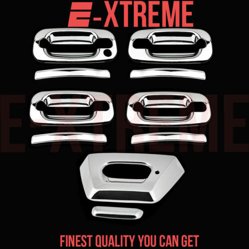 FOR CHEVY 02-06 AVALANCHE CHROME 4DRS HANDLE W//OUT PSKH+TAILGATE COVER W//KEYHOLE