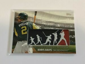 2018-Topps-Baseball-Players-Weekend-Patch-Khris-Davis-Oakland-Athletics