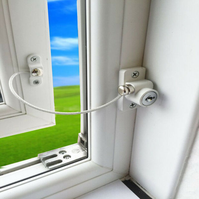 HN- Childproof Baby Safety Catch Wire Cable Lock Window ...