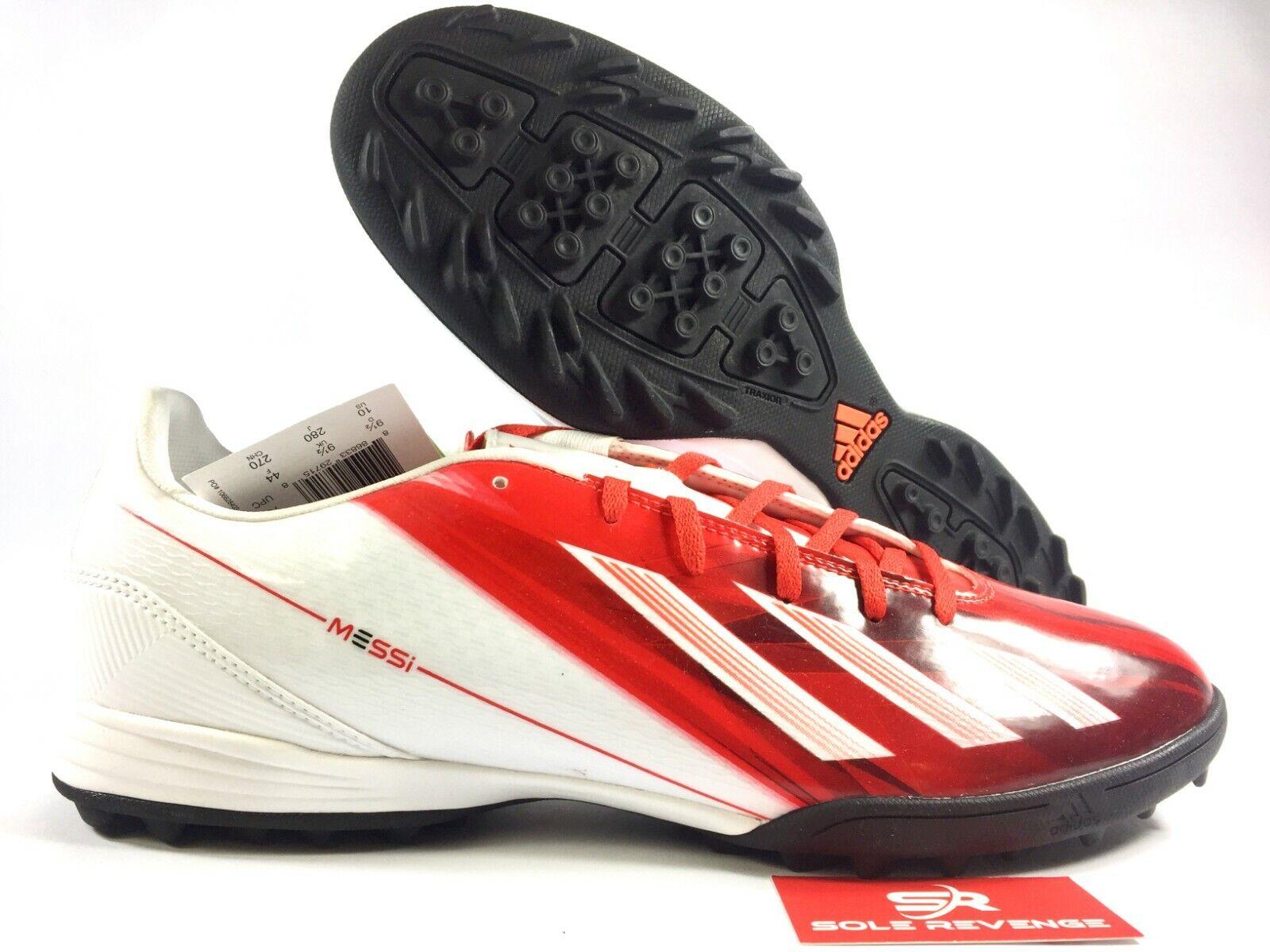 de1670d7c New adidas MESSI F10 TRX TF Turf Soccer shoes White Red Mens Q22441 x1