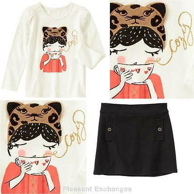 Gymboree right meow top size 7 8 10 12 wild about style sequins tee