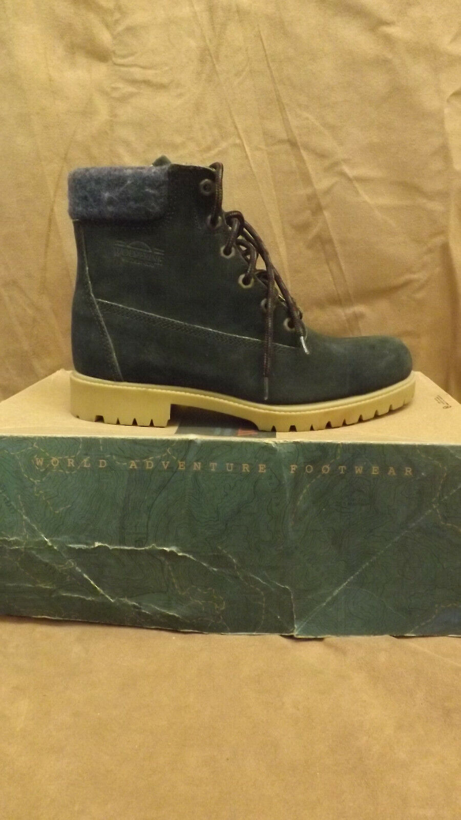 Wolverine Wilderness Aspen Green Suede Leather Blanket Lined Boots 5.5 USA MADE