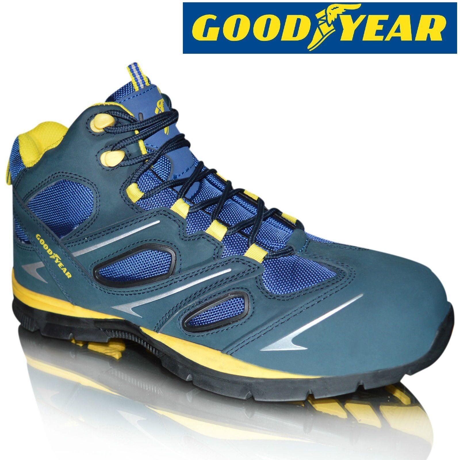 Para Hombre GOODYEAR LEATHER Seguridad Puntera Composite Zapatos botas De Trabajo Zapatillas Tamaño