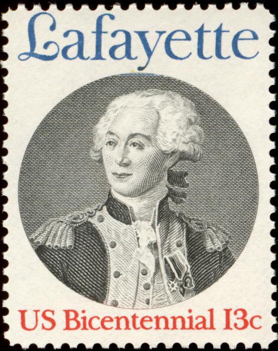 1977 13c General Marquis de Lafayette, France Scott 171