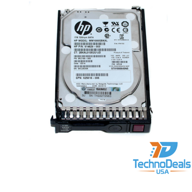 HP 655710-B21 656108-001 1TB 6G SATA 7.2K 2.5 SC MDL HDD G8//9
