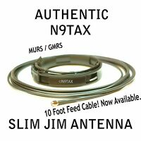 Authentic N9tax Vhf/uhf Slim Jim J-pole For Ht Murs / Gmrs Antenna 10' Coax