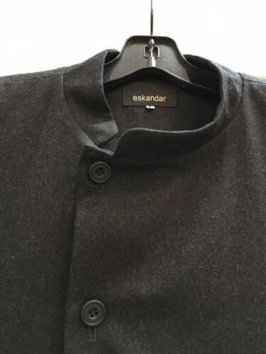 Mandarin Wool New 1 Collar Cashmere 2x 1x Eskandar Size Charcoal Jacket qOYnO1g8U