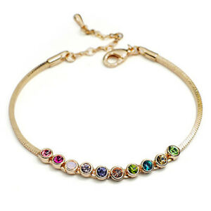 Colourful-Multicoloured-Crystals-Rose-Bracelet-RGB086