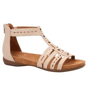 b0bd78589e5b Natural Soul Antigua Women s Flat Shell (Beige) Gladiator Sandals ...