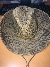7d035711760 Henschel Hat Co Rustic Distressed Leather Outback Western Cowboy Hat Medium  EUC