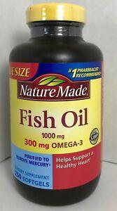 2c04c0031c1b Nature Made Fish Oil 1000 mg Omega-3 300mg Gluten Free 250 ct Exp12 ...