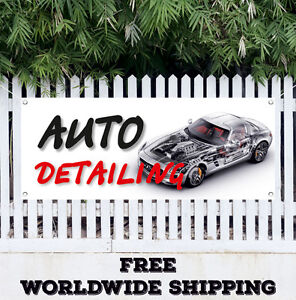Banner Vinyl Auto Detailing Advertising Sign Flag Many Sizes Car