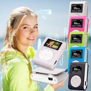 Moda-Mini-USB-Clip-Reproductores-de-MP3-LCD-Screen-Support-32GB-Micro-SD-TF-Card