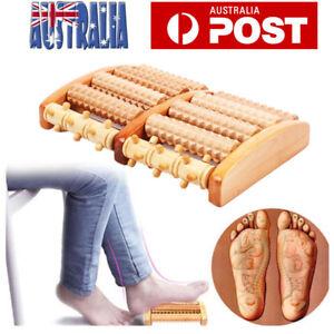 Fuss-Roller-Holz-Pflege-Massage-Reflexzonenmassage-Entspannen-Relief-Y9