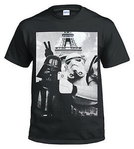 New-SELFIE-IN-PARIS-Eiffel-Tower-T-Shirt-Funny-Star-Wars-Storm-trooper-Mens-Top