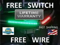 Bass Boat Bow Led Navigation Kit - Red And Green Pontoon - Or- Fishing Safety