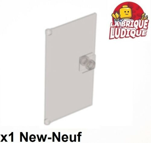 1x Door Porte 1x4x6 stud handle poignée trans black noir fumé 60616 NEUF Lego