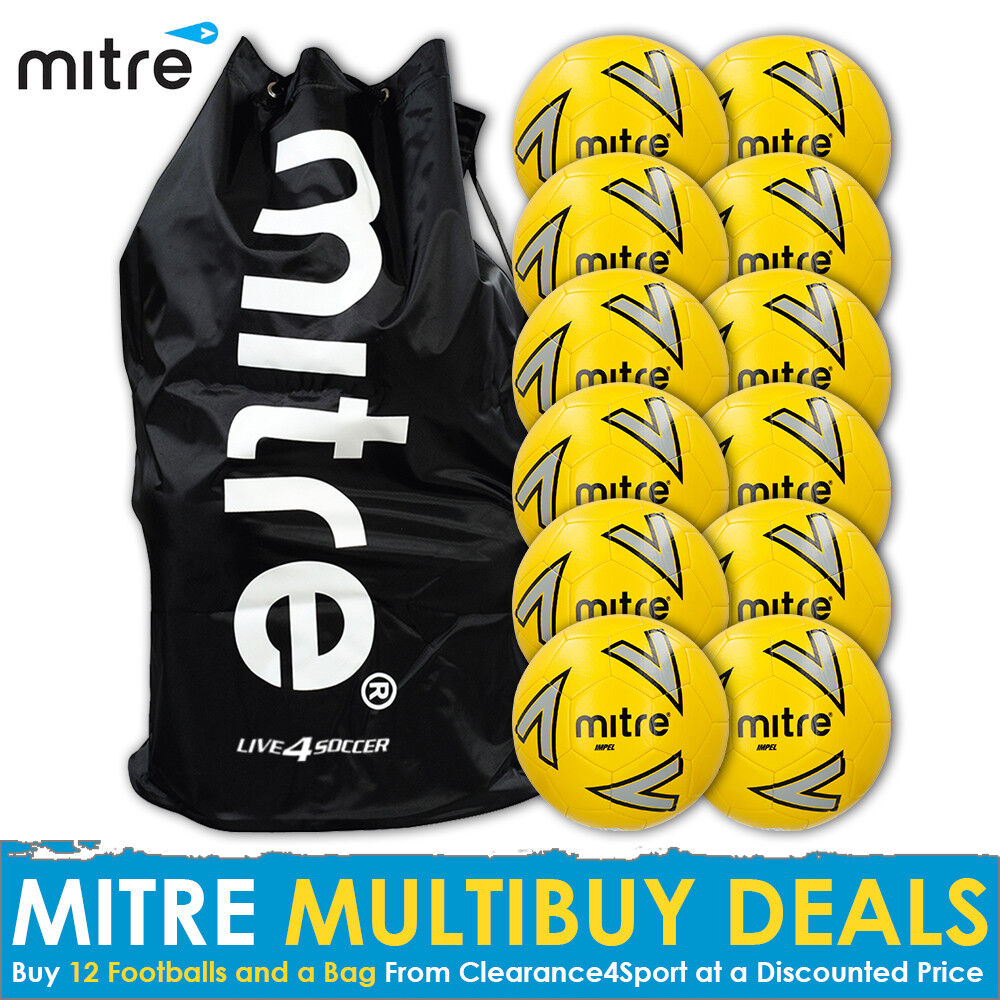 Mitre Impel Impel Mitre Gelb 12 Training Footballs Plus Mitre Bag 2018 9bada9