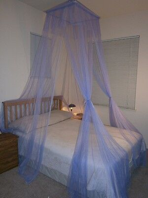 OctoRose® square top bed canopy mosquito insect net fit all size bed many color