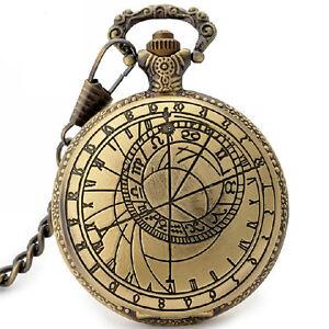 bronze vintage compass shape quartz pocket watch chain gift bronze vintage compass shape quartz pocket watch chain