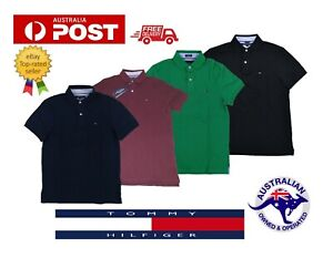 SALE-Tommy-Hilfiger-Original-Mens-polo-T-Shirt-Short-Sleeve-S-M-L-XL