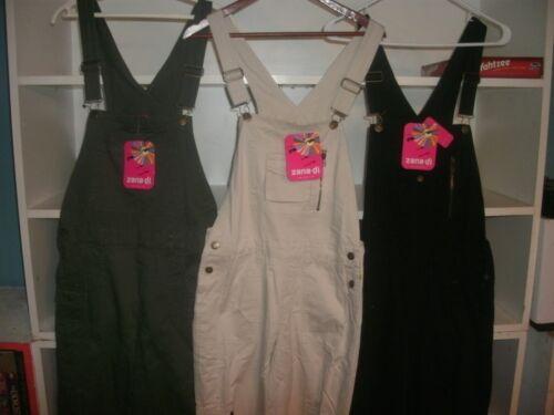 """Green or Khaki B114 Ladies /""""Zana.di/"""" jean denim bib overalls size S Black"""