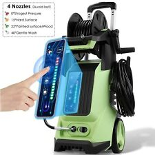 3800psi Electric Pressure Washer Touch Screen 28 Gpm Portable High Power Washer