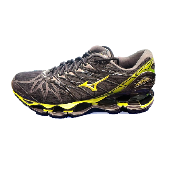 Wave Prophecy 7 Men Running shoes J1GC180040 Black Yellow Grey New 18U