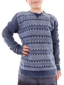 Brunotti-Sudadera-Camisa-Jersey-nortes-Blau-Patron-Elastico