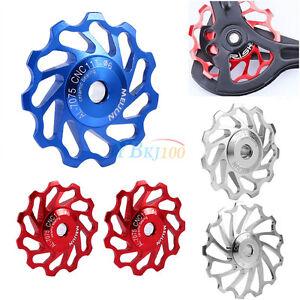 2x-Cycling-Bike-Ceramics-Jockey-Wheel-Rear-Derailleur-Pulley-for-Shimano-11T-13T