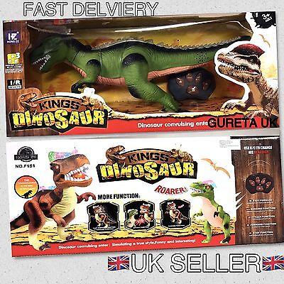 Radio Remote Controlled T-Rex Light Up Dinosaur Toy Robot Sound Light Gift Idea