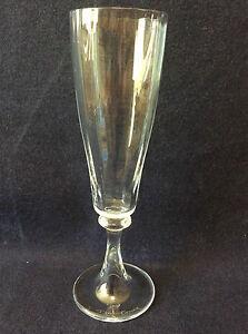 Daum Flûte champagne H 20-2 cm cristal translucide côtes plates Daum signée DlU0YhvM-09095337-761391636