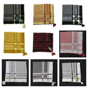 NEUF-Authentique-meilleure-qualite-arabe-palestina-Afghan-Style-Foulard-Shemag