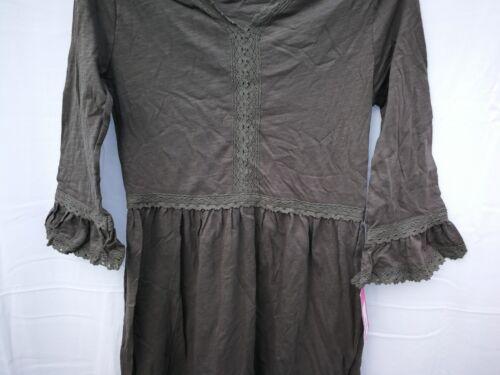 Girls/' Bell Sleeve Cotton Slub Jersey Knit with Crochet Dress 4-16 Xhilaration