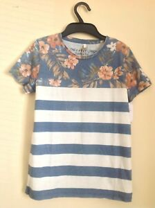 Key-Largo-Boys-Teeshirt-Age-5-Floral-And-Stripes-New-RRP-40
