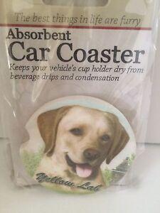 Yellow-Lab-Sandstone-Absorbent-Dog-Breed-Car-Coaster