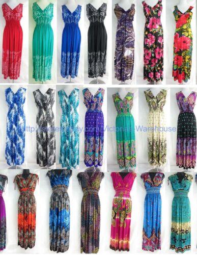 wholesale lot of 10 long dress maxi sundress beach dress vacation dress halter