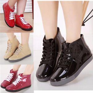 46446833699 Femme Fille Bottine Bottes de Pluie Chaussures Imperméable Cheville ...