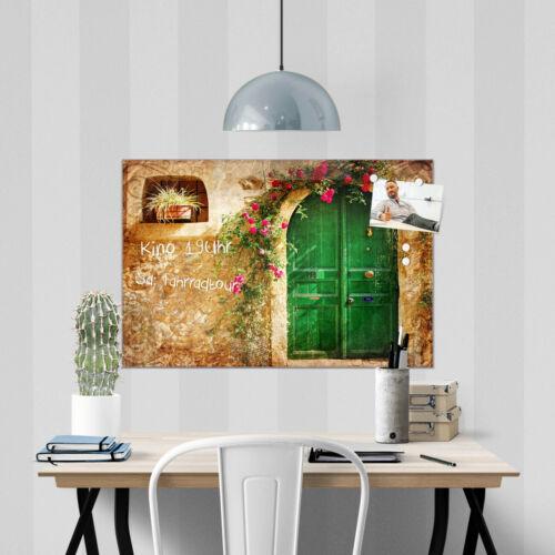 Größen Motiv Ferienhaus banjado Glas Magnettafel m 4 Magneten Memoboard versch
