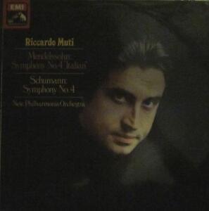Riccardo-Muti-Vinyl-LP-Mendelssohn-Symphony-4-HMV-EMI-ASD-3365-UK-1977-VG-Ex