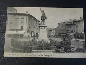 Cpsm-The-Puy-La-Statue-Of-Lafayette-and-The-Tour-Panessac
