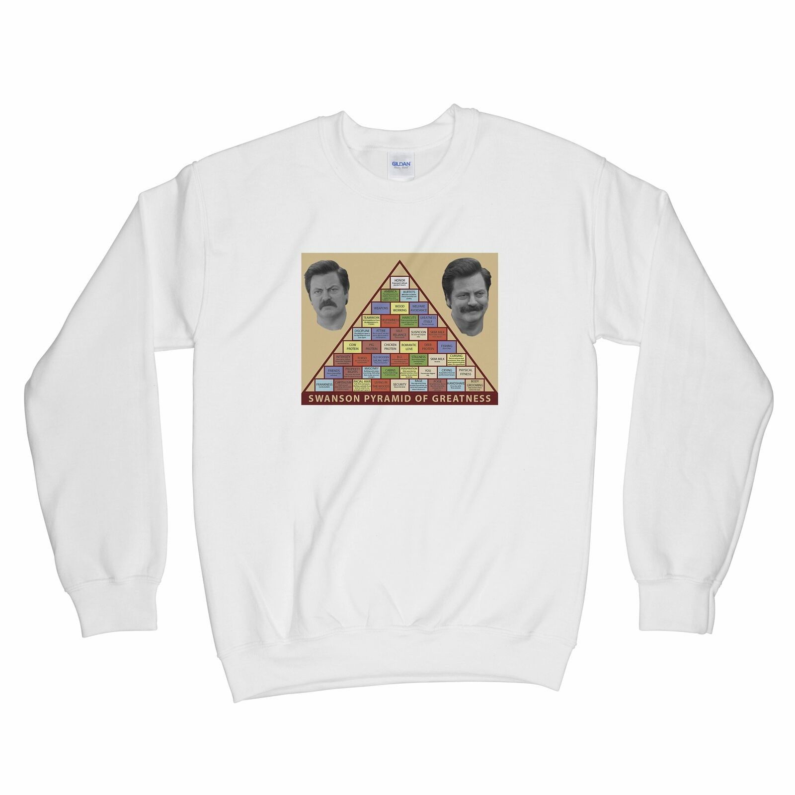 Ron Swanson Pyramid of Greatness Sweatshirt Ron Swanson