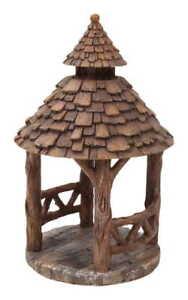 Accessori Per Gazebo In Legno.Miniatura Casa Delle Bambole Giardino Delle Fate In Legno Gazebo