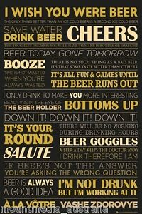 Drinking Quotes | Wish You Were Beer Poster 91x61cm Drinking Quotes New Licensed Art