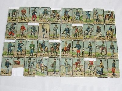 03e7 Set Antichi Carte Smash Pub Pubblicità Soldati Militari 14/18